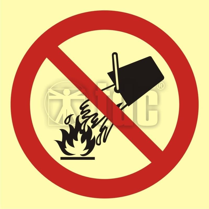 Znak zakaz gaszenia wodą BA 003