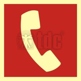 Znak telefon do użycia w stanie zagrożenia BA 008
