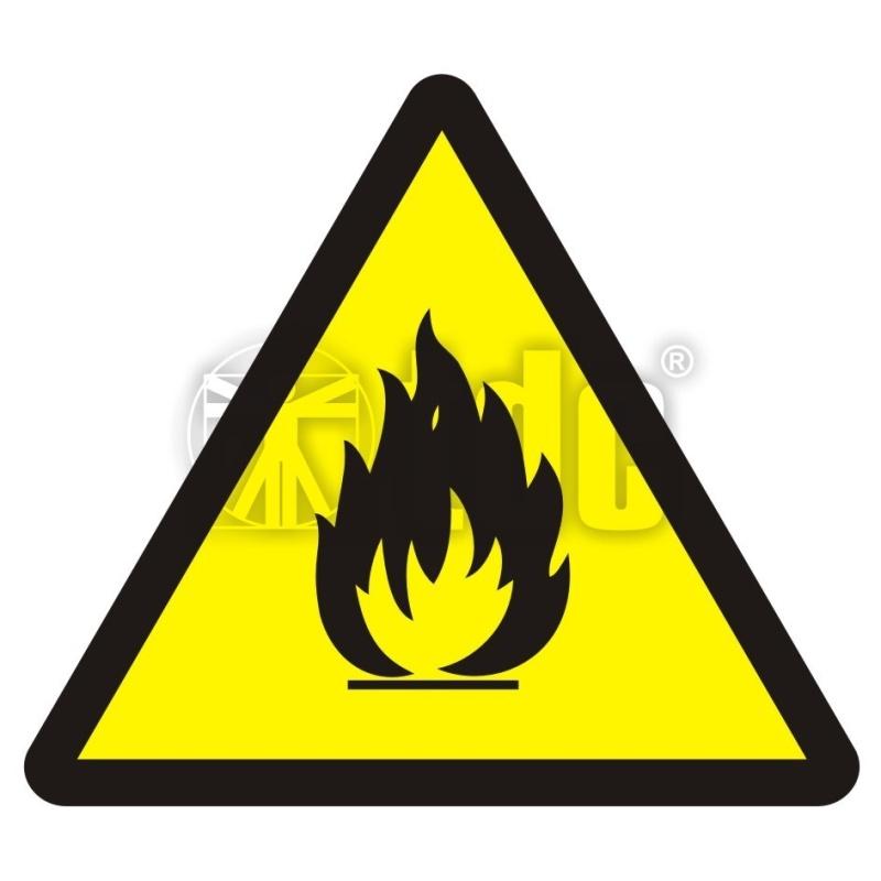 Znak niebezpieczeństwo pożaru - materiały łatwopalne BA 014