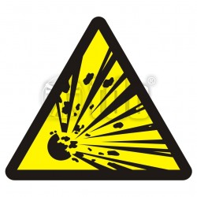 Znak niebezpieczeństwo wybuchu - materiały wybuchowe BA 016