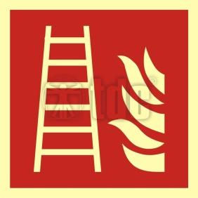 Znak drabina pożarowa BA F003
