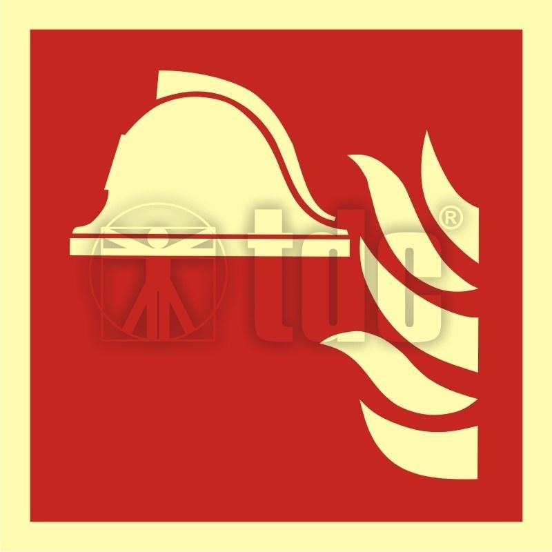 Znak zestaw sprzętu ochrony przeciwpożarowej BA F004