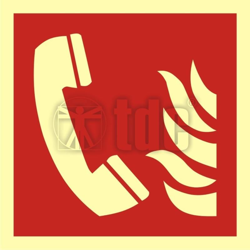 Znak telefon alarmowania pożarowego BA F006