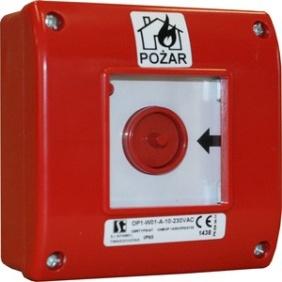 Ręczny ostrzegacz pożarowy, rozwierny, natynkowy, IP65 OP1-W01-A-01
