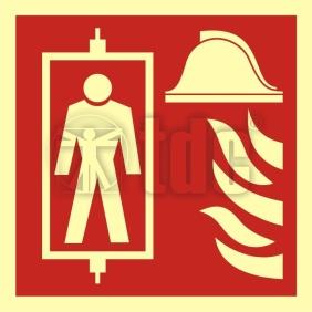 BB022 Znak dźwig dla straży pożarnej