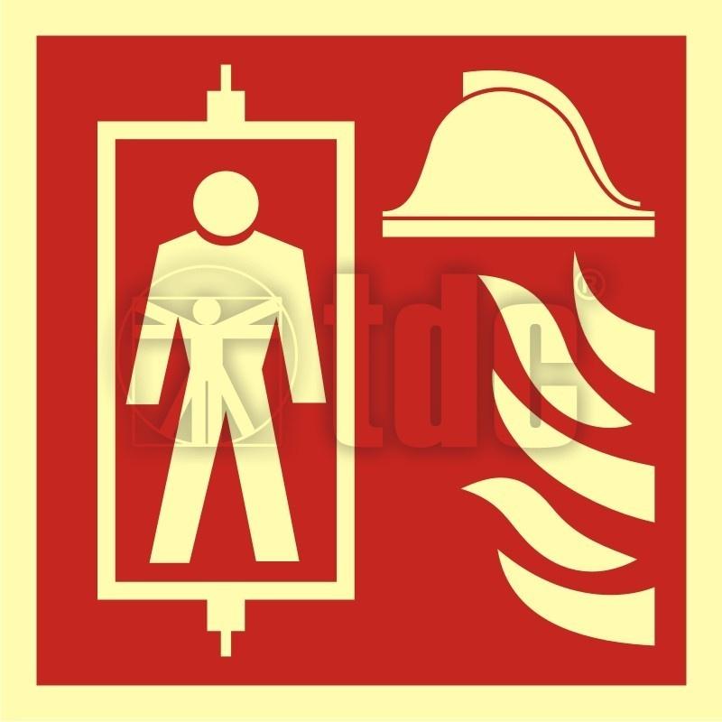 Znak dźwig dla straży pożarnej BB 022