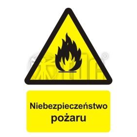 Znak niebezpieczeństwo pożaru - materiały łatwopalne BC 001