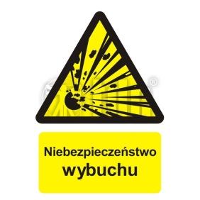 Znak Niebezpieczeństwo wybuchu - materiały wybuchowe BC 004