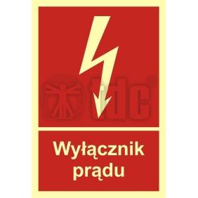 Znak wyłącznik prądu BC 007