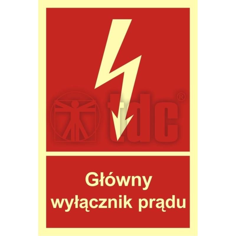 Znak główny wyłącznik prądu BC 008