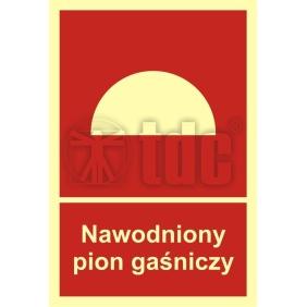 Znak nawodniony pion gaśniczy BC 018
