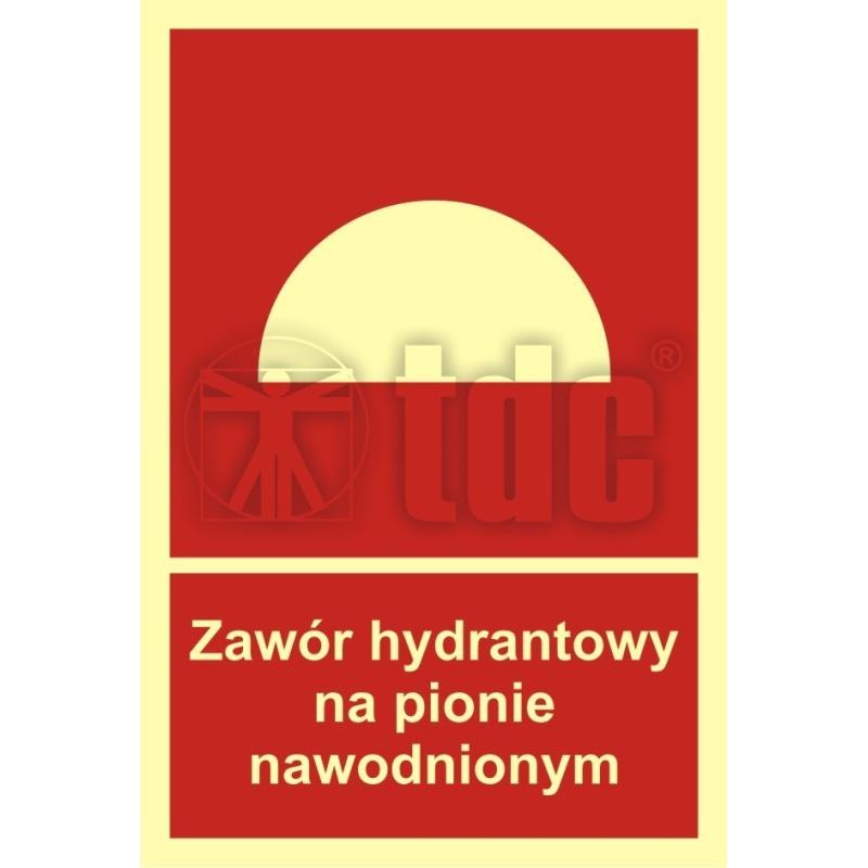 Znak zawór hydrantowy na pionie nawodnionym BC 019