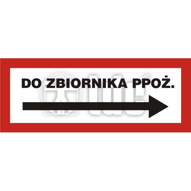 Znak do zbiornika ppoż. BC 116P