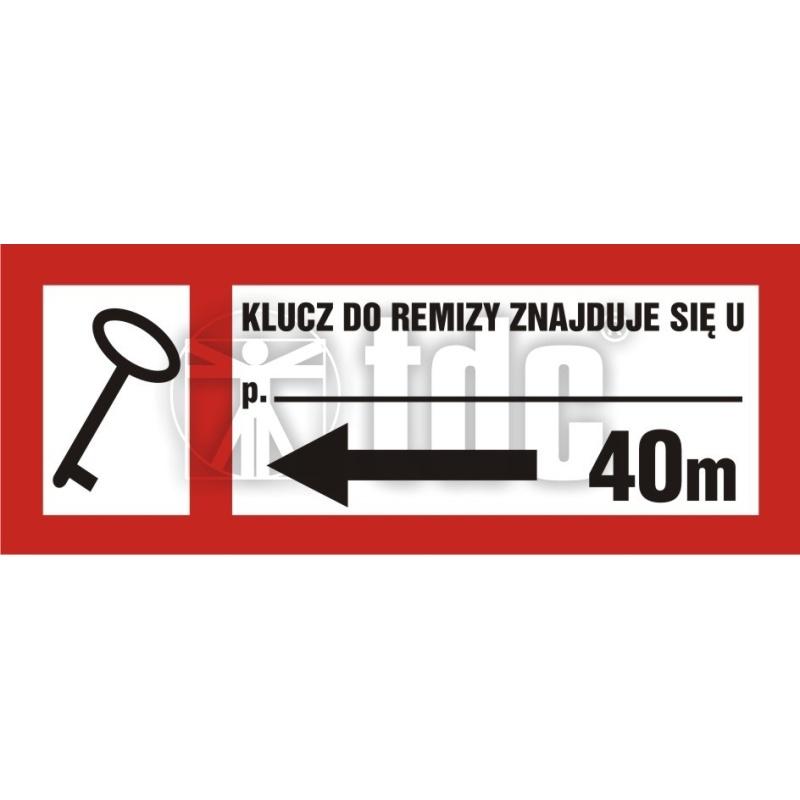 Znak klucz do remizy znajduje się u (tekst wg zamówienia) BC 125L