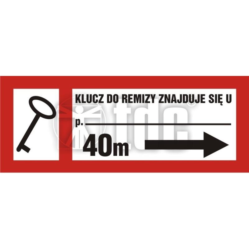 Znak klucz do remizy znajduje się u (tekst wg zamówienia) BC 125P