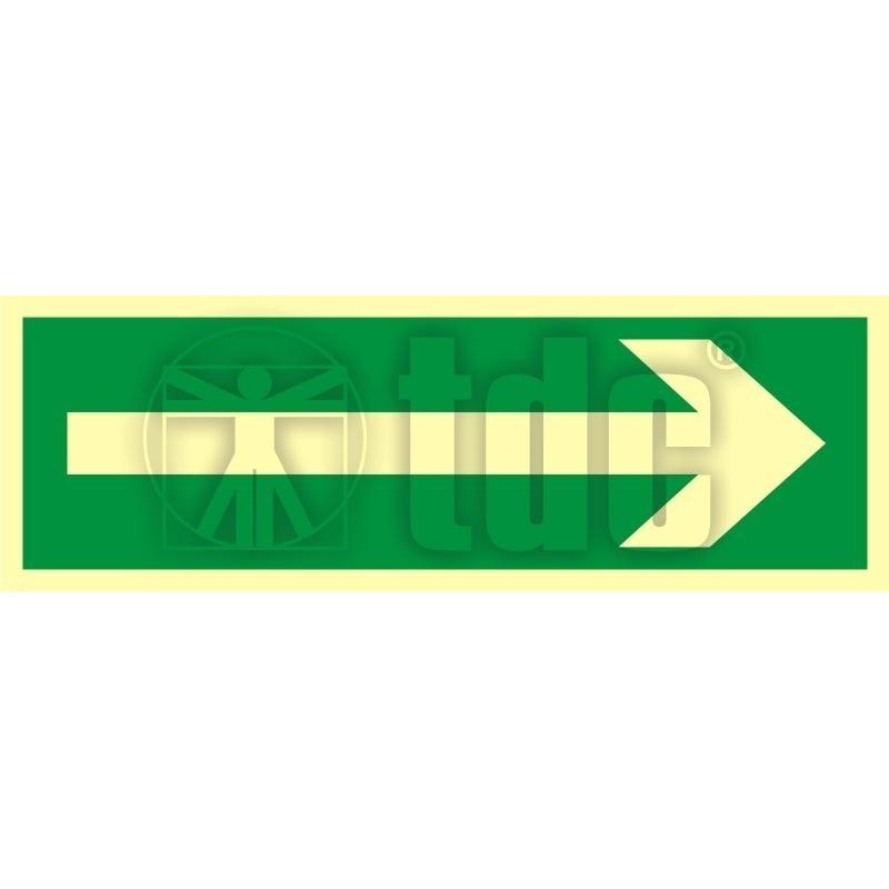 Znak kierunek drogi ewakuacyjnej AA 008