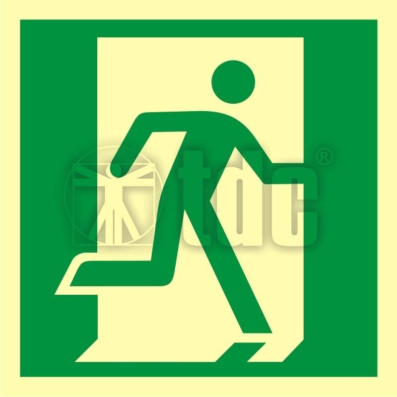 Znak drzwi ewakuacyjne AA 009