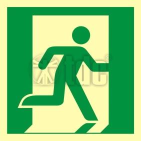 Znak wyjście ewakuacyjne (prawostronne) AA E002