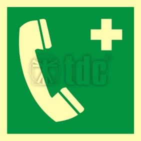 Znak telefon alarmowy AA E004
