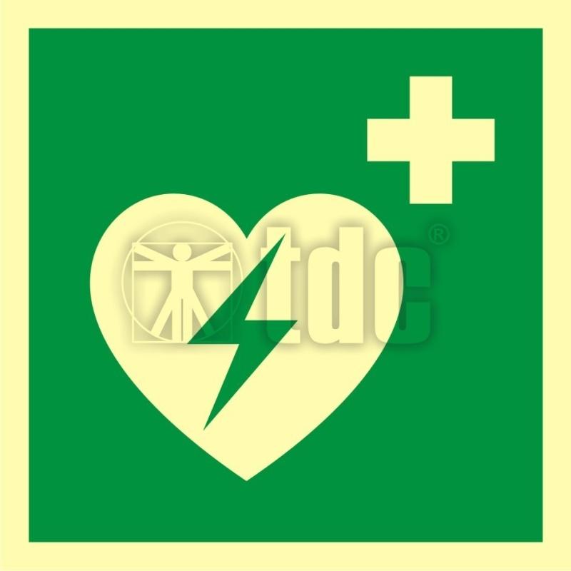 Znak defibrylator (AED) AA E010
