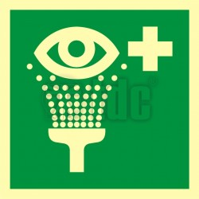 Znak prysznic do przemywania oczu AA E011