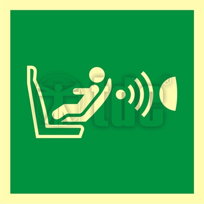Znak system detekcji obecności i położenia fotelika dziecięcego (CPOD) AA E014
