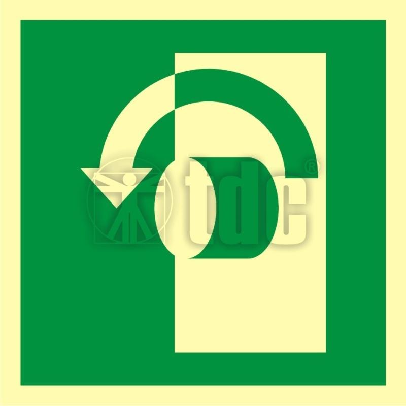 Znak przekręcić aby otworzyć AA E018
