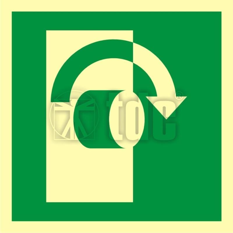 Znak przekręcić aby otworzyć AA E019