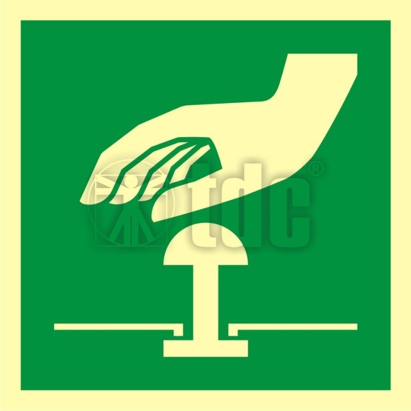 Znak przycisk awaryjnego zatrzymania AA E020