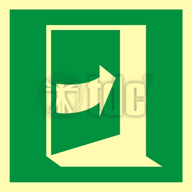Znak pchać aby otworzyć drzwi (prawe) AA E023