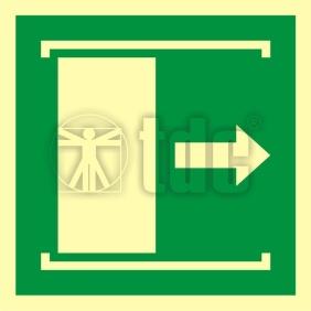 Znak drzwi przesuwane w celu otwarcia AA E033