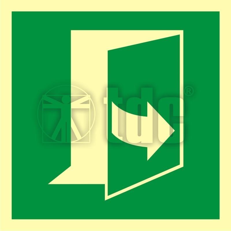 Znak ciągnąć aby otworzyć drzwi (prawe) AA E057