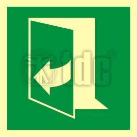 AAE058 Znak ciągnąć aby otworzyć drzwi (lewe)