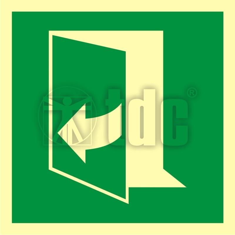 Znak Ciagnac Aby Otworzyc Drzwi Lewe Aa E058 Zabezpieczenia