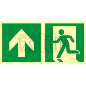 AAE100 Znak kierunek do wyjścia ewakuacyjnego - w górę (lewostronny)
