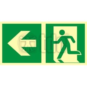 Znak kierunek do wyjścia ewakuacyjnego – w lewo AA E102
