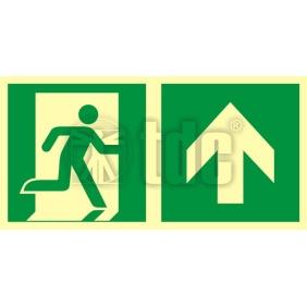 AAE105 Znak kierunek do wyjścia ewakuacyjnego – w górę (prawostronny)