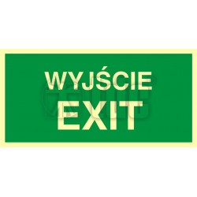 Znak wyjście exit AC 001