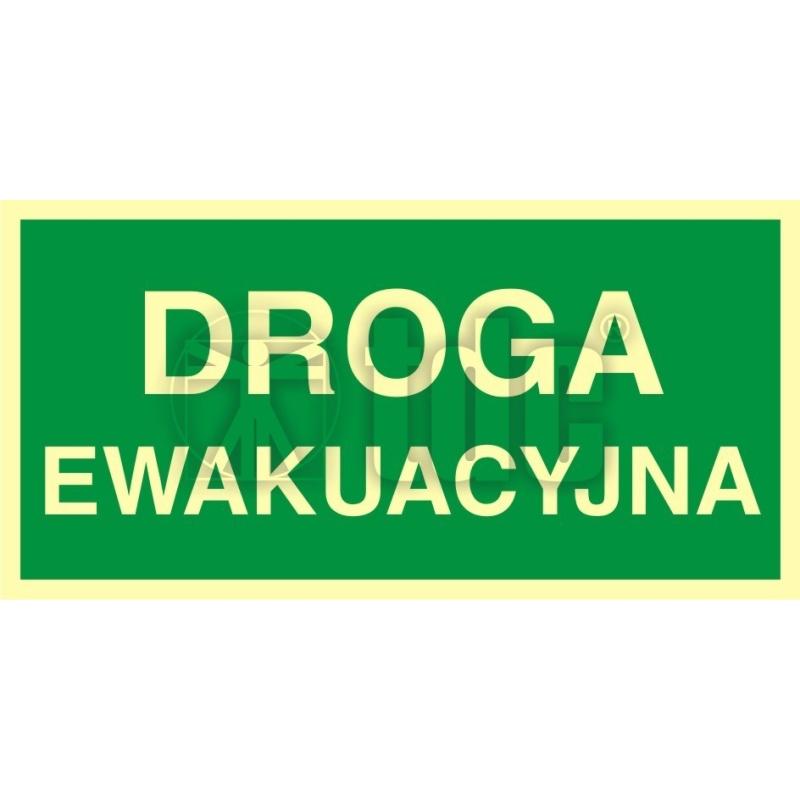 Znak droga ewakuacyjna AC 005