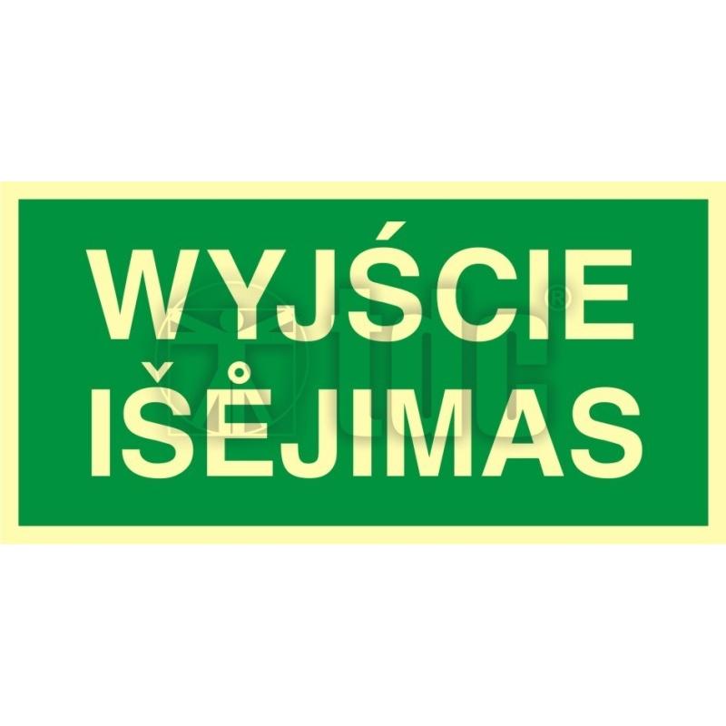 Znak wyjście - Isejimas AC 008