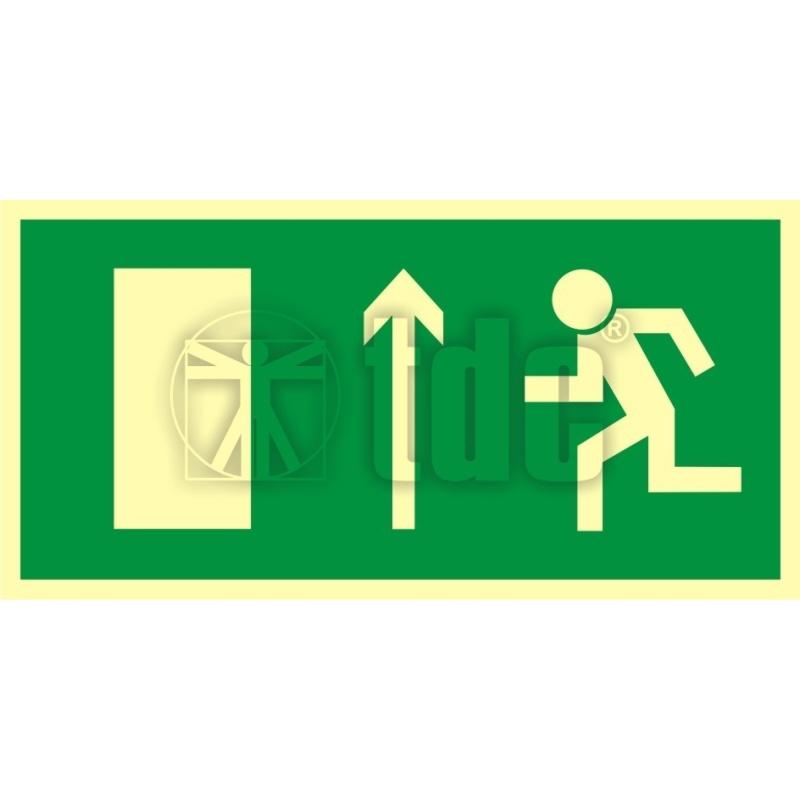 Znak kierunek do wyjścia drogi ewakuacyjnej w górę AC 015