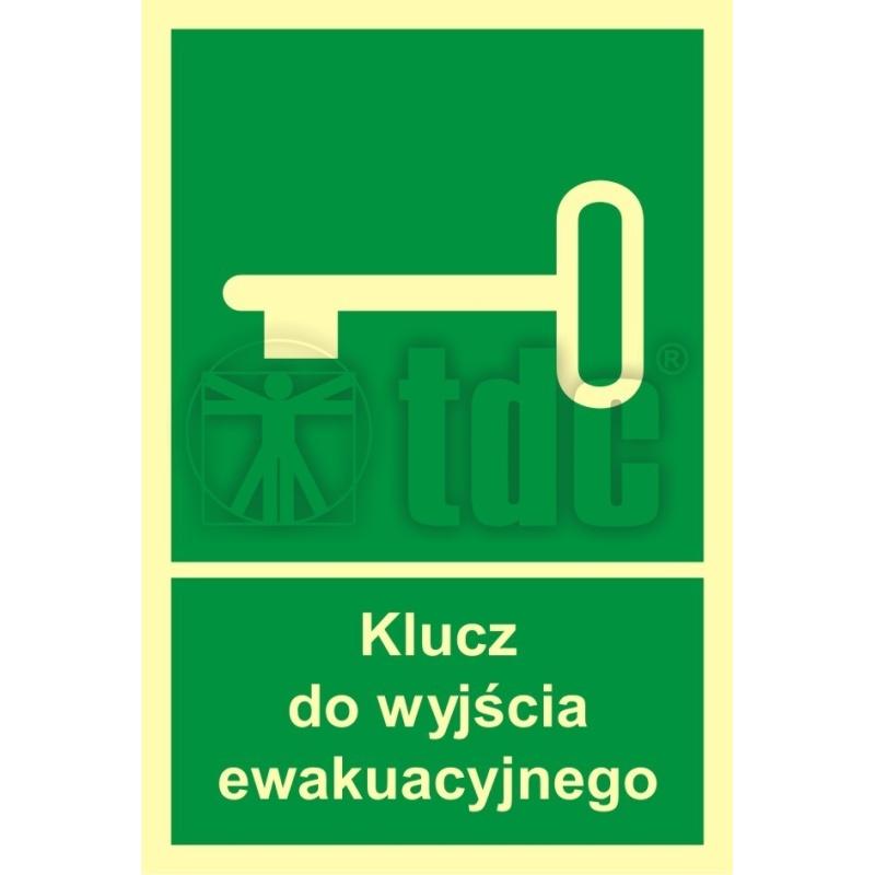 Znak klucz do wyjścia ewakuacyjnego AC 029