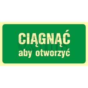 Znak ciągnąć aby otworzyć AC 038