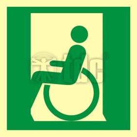 Znak drzwi ewakuacyjne dla niepełnosprawnych w lewo AA 054