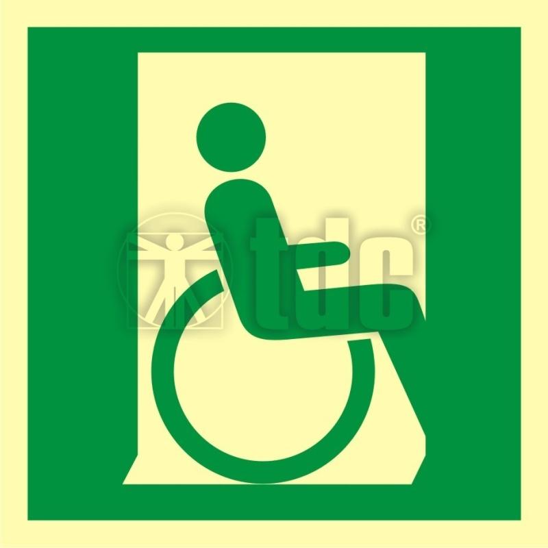 Znak Drzwi Ewakuacyjne Dla Niepelnosprawnych W Prawo Aa 055