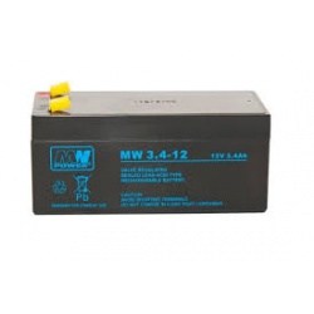 Akumulator 12V / 3,4 Ah (do centrali 8A, do RZN 4408-K/M) Akku Typ 3A