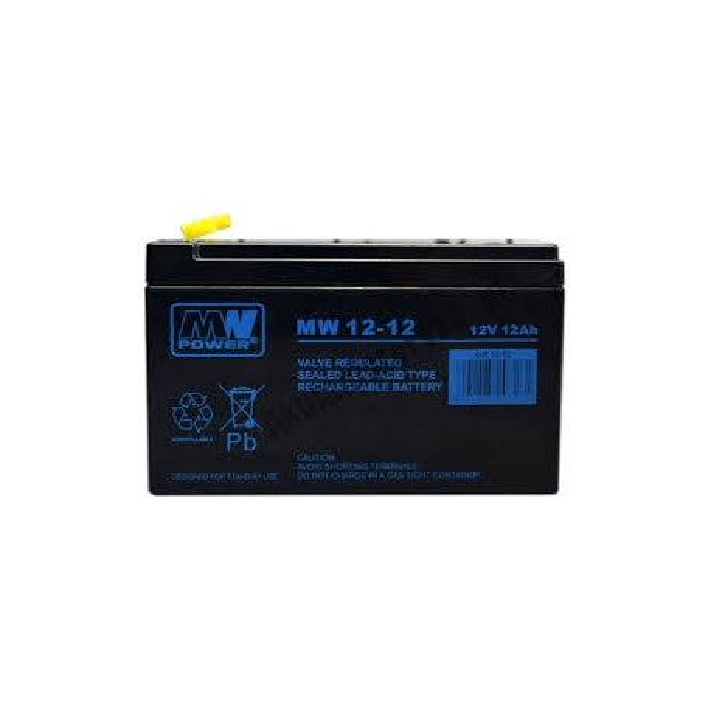 Akumulator 12V / 12 Ah (2szt. do centrali 16A) Akku Typ 4