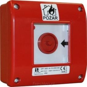 Ręczny ostrzegacz pożarowy IP65 OP1-W01-A-01