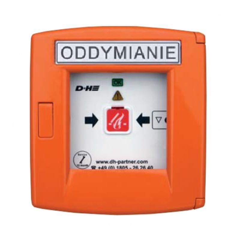 Przycisk oddymiania RT 45 aluminiowy w kolorze pomarańczowym