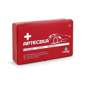 Apteczka samochodowa w pudełku z tworzywa sztucznego Car APA04